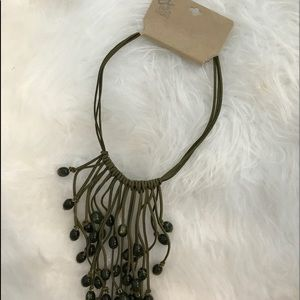 EL BY ERICA LYONS Olive green Statement necklace